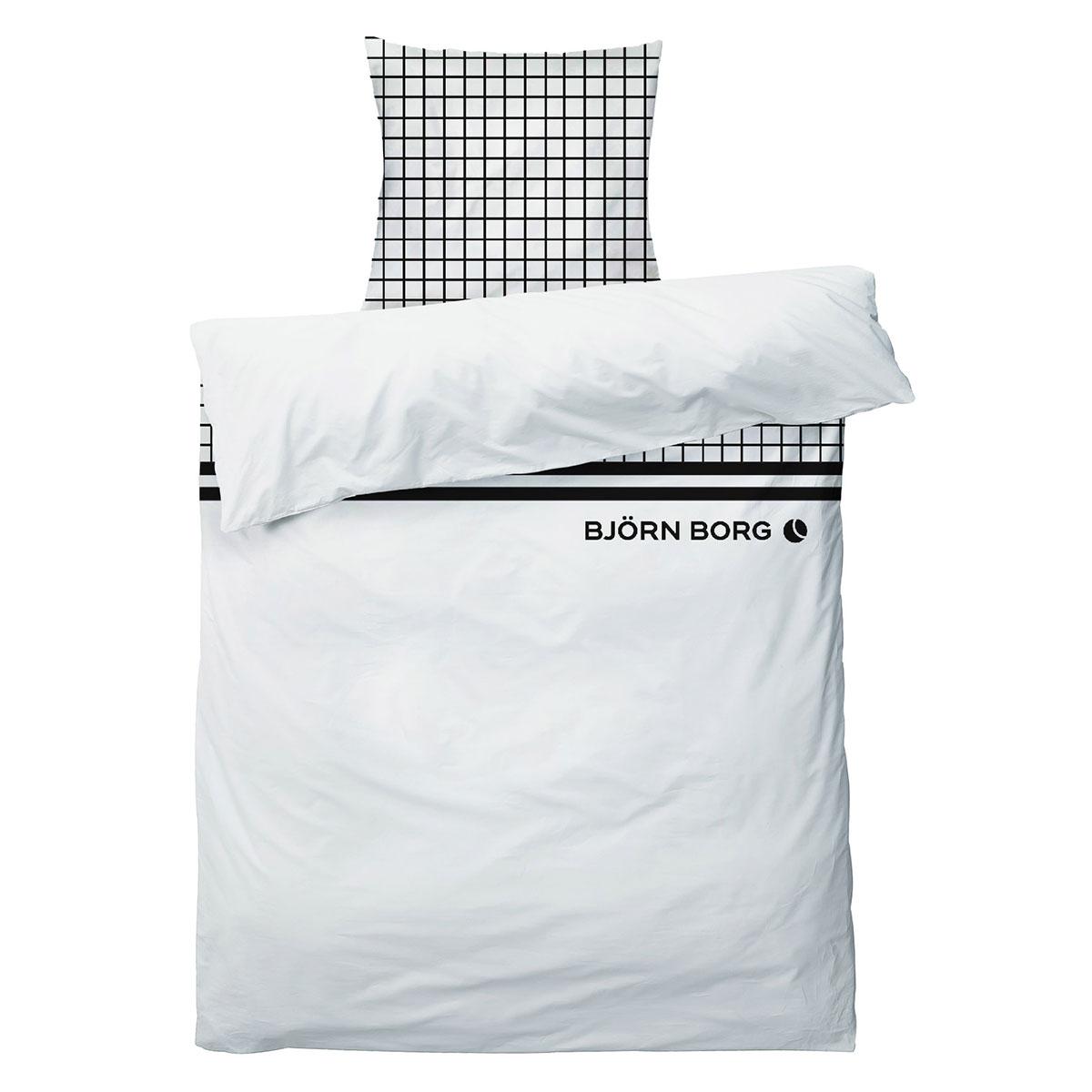Image of   Björn Borg sengetøj - Hvid med sorte detaljer
