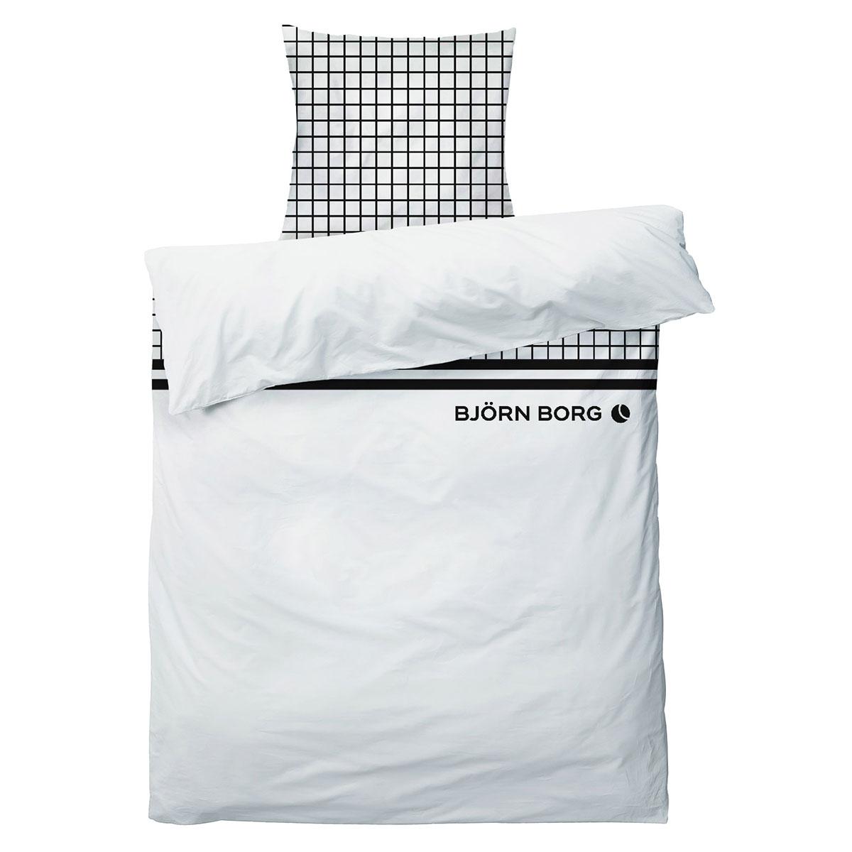 Billede af Björn Borg sengetøj - Hvid med sorte detaljer
