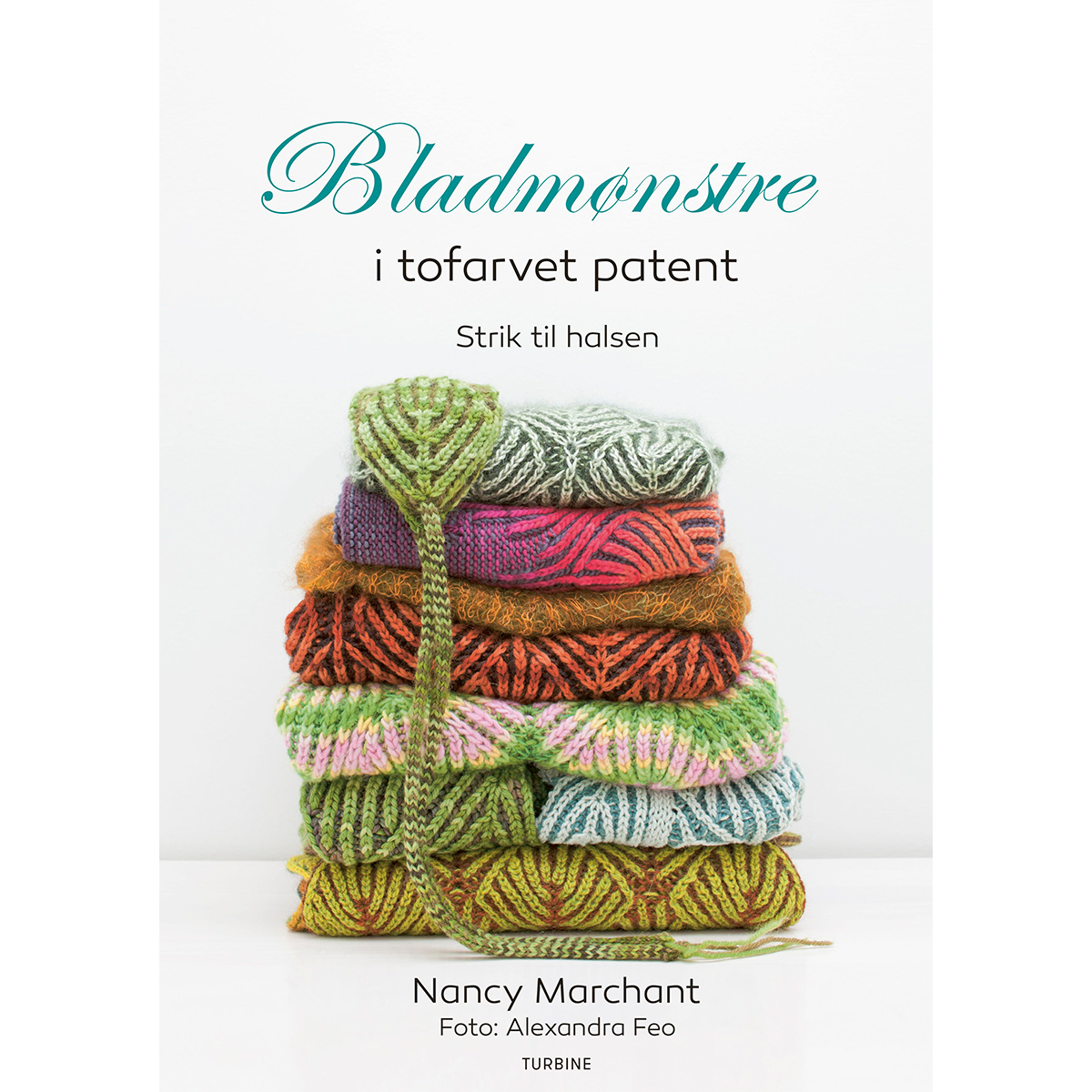 Image of   Bladmønstre i tofarvet patent - Brioche - Hæftet