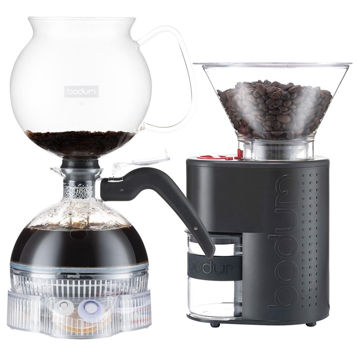Image of   Bodum ePebo vakuumkaffebrygger & Bistro kaffekværn