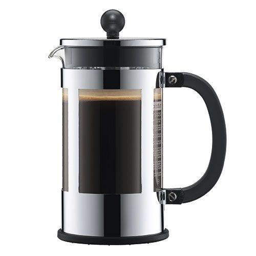 BODUM stempelkande - Kenya - Stål 8 kopper - 1 liter - Coop.dk