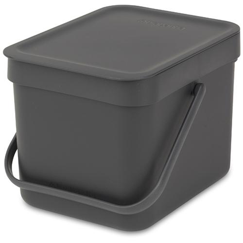 Brabantia affaldsspand - Sort & Go - Grå