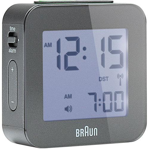 Braun rejsevækkeur - BNC008 - Grå