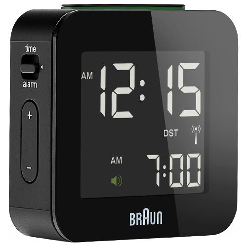 Braun rejsevækkeur - BNC008 - Sort