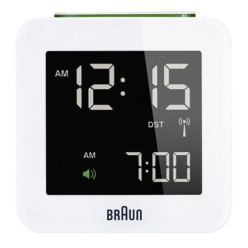 Braun rejsevækkeur - BNC009WH-RC - Hvid