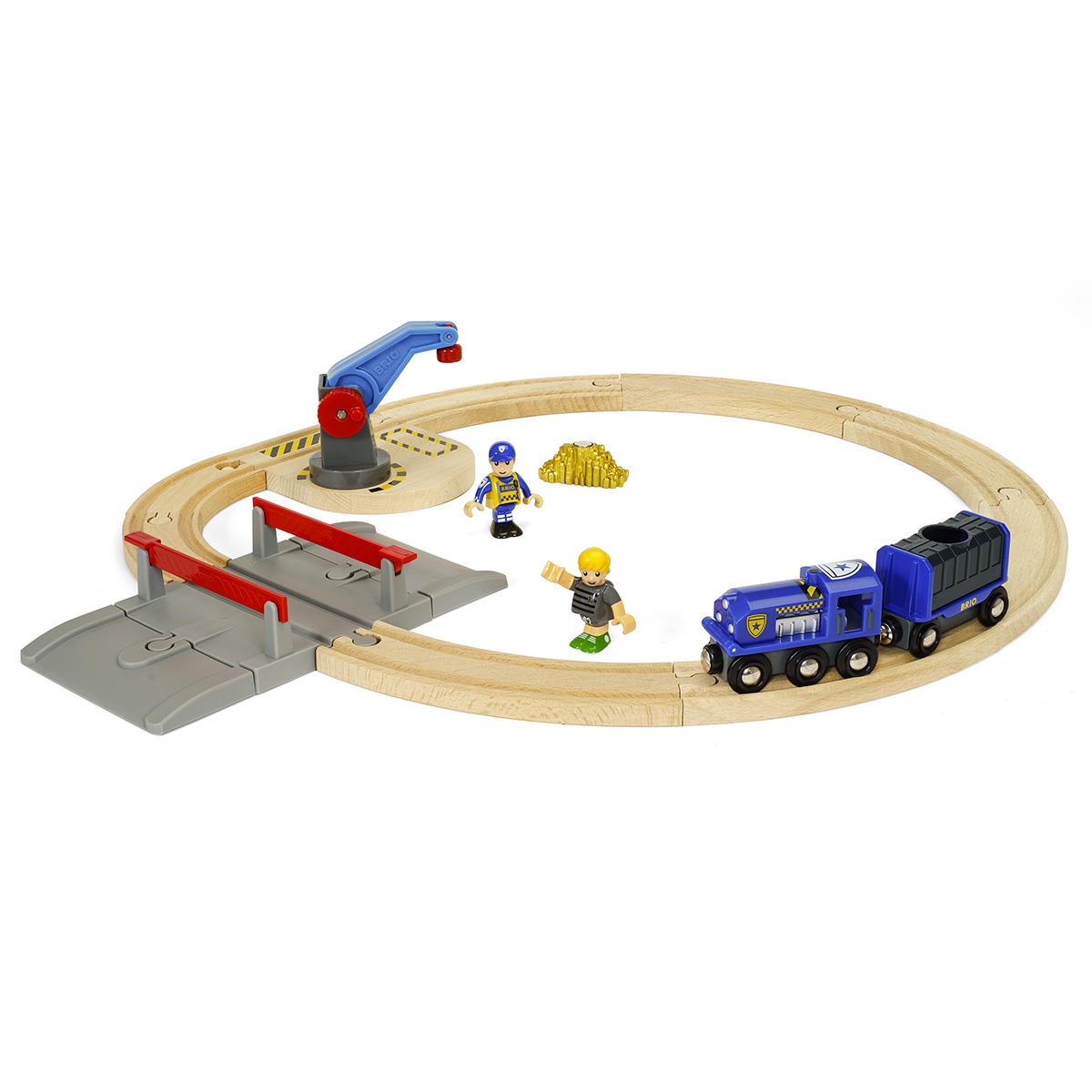Image of   BRIO togbane med politi, røver og guldtransport