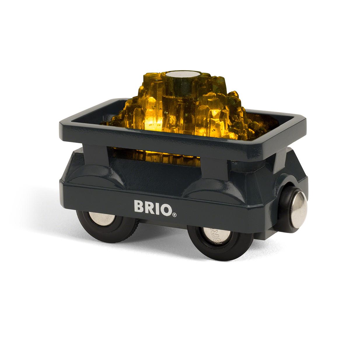 Image of   BRIO togvogn med guld