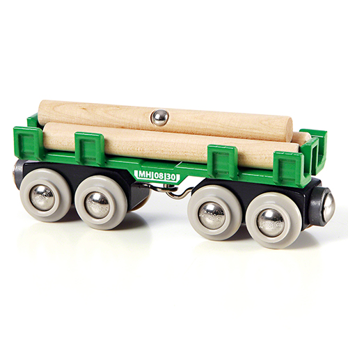 Image of   BRIO togvogn med tømmer