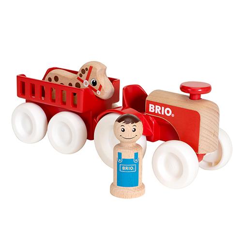 Image of   BRIO traktor med vogn