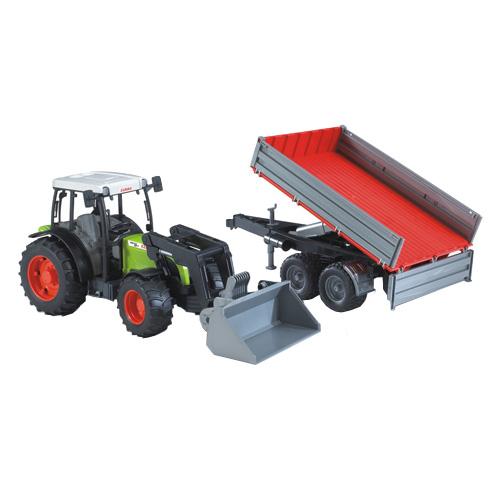 Image of   Bruder Claas Nectics traktor med trailer