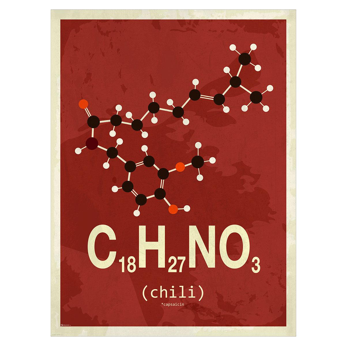 Image of   Chili plakat - Molekylen.dk