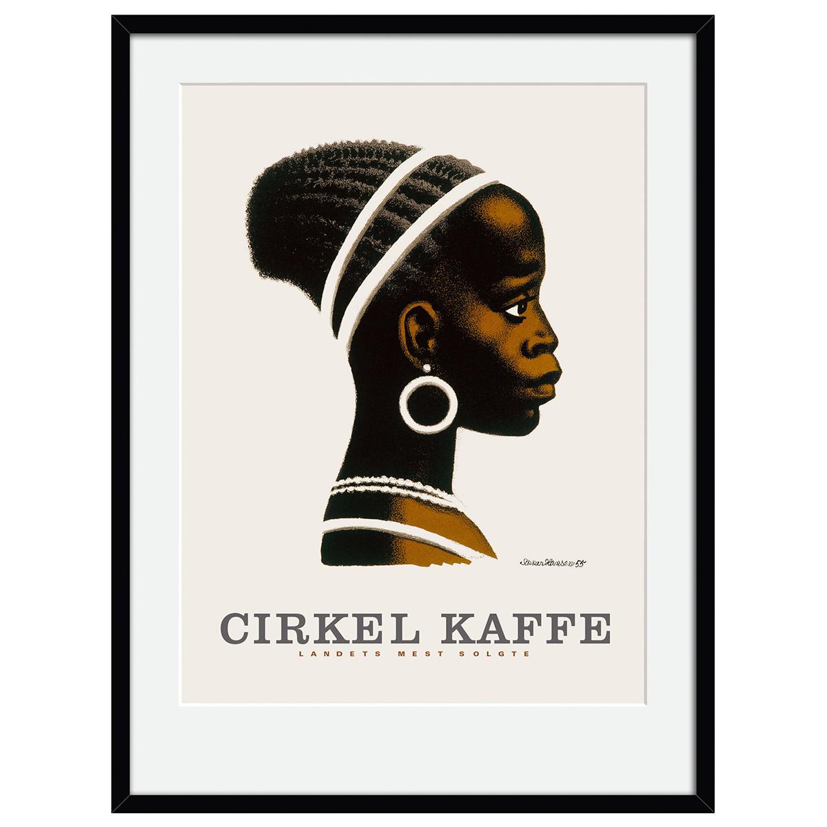 Image of   Cirkelpigen plakat i ramme - af Aage Sikker Hansen