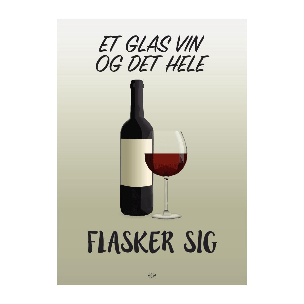 Image of   Citatplakat.dk - Et Glas Vin