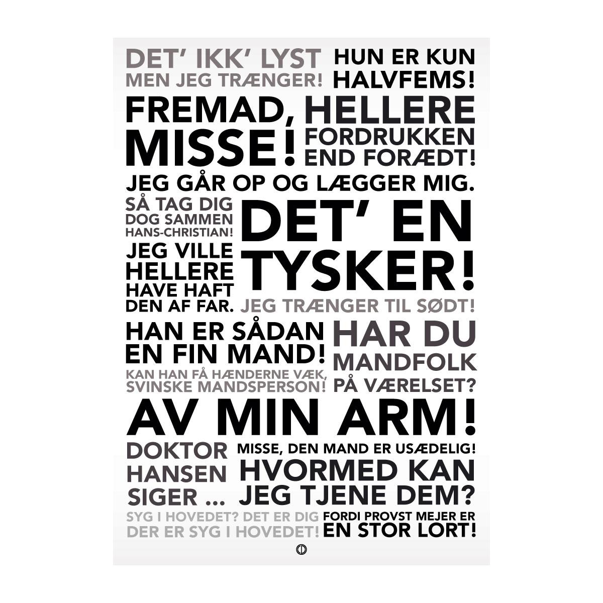 Image of   Citatplakat.dk - Matador Komplet