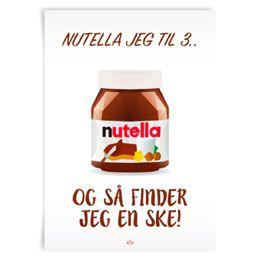 Image of   Citatplakat.dk - Nutella jeg til tre