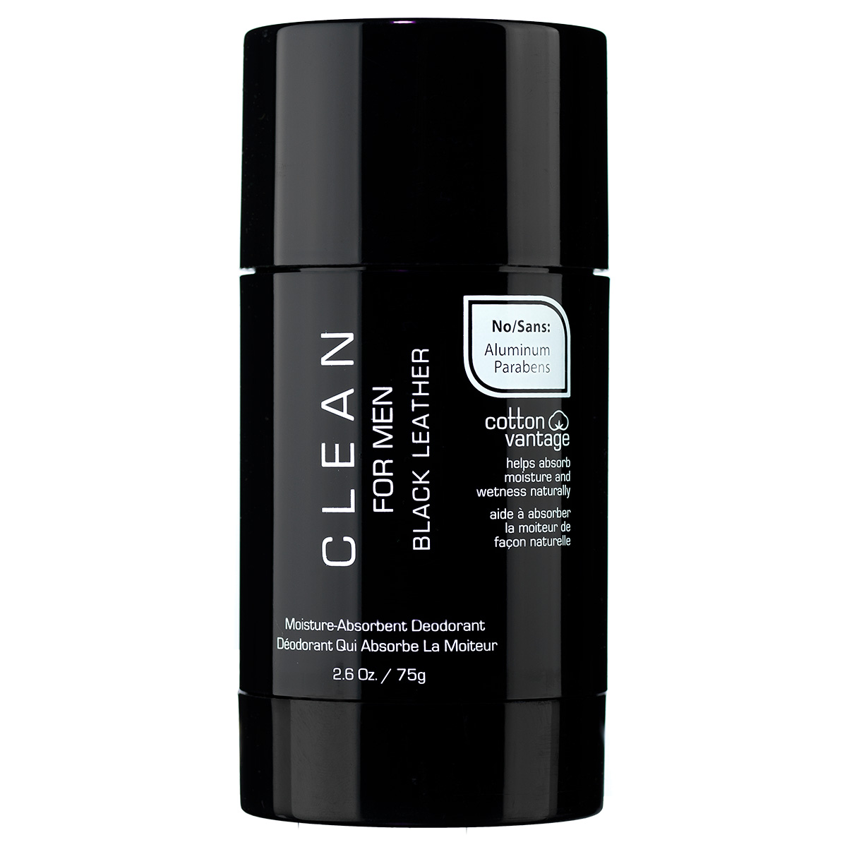 Clean Black Leather For Men deostick - 75 g