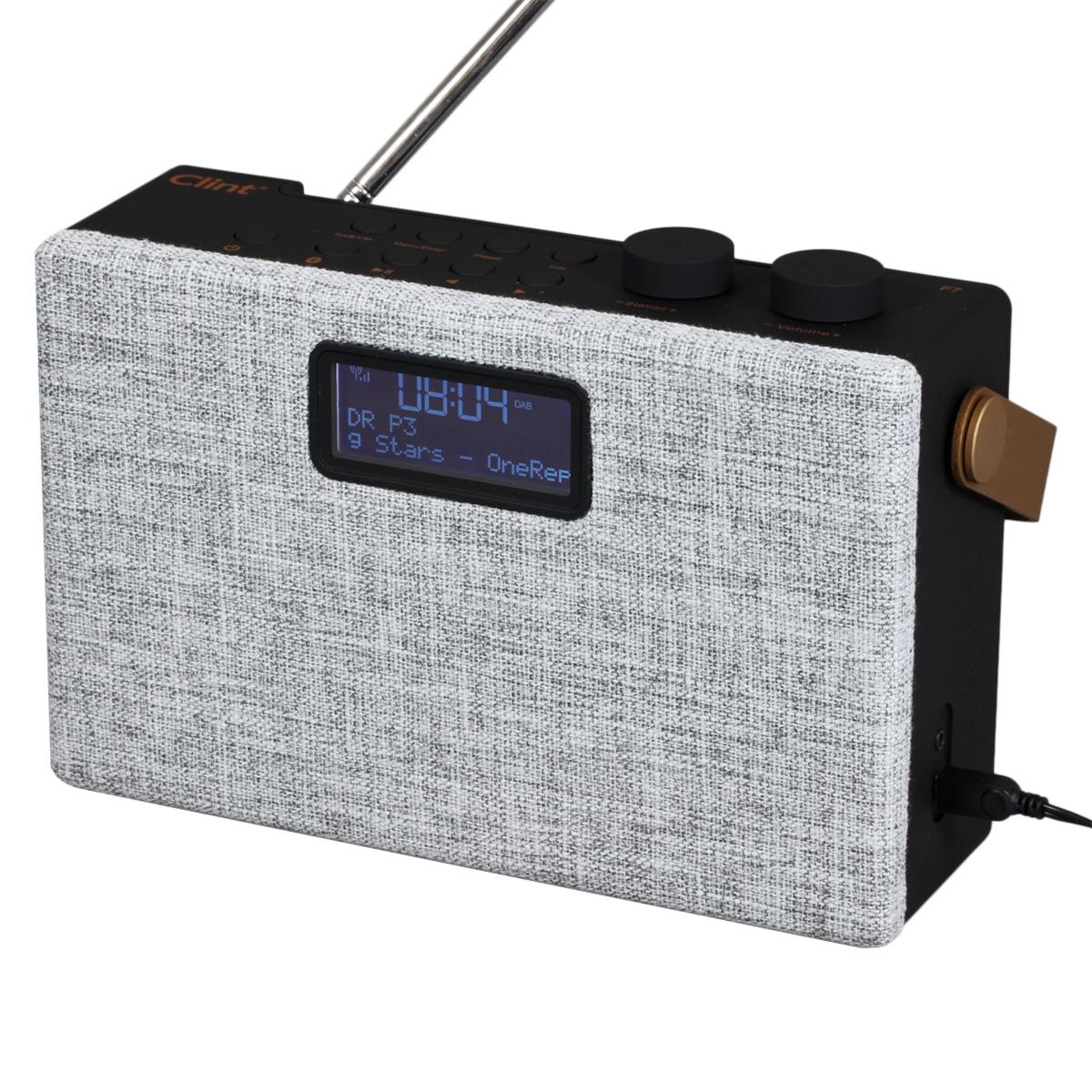 Clint stereo DAB+/FM radio - Model F7 - Grå