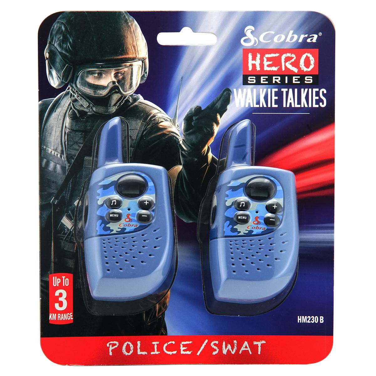 Image of   Cobra walkie talkies - Hero Series Special Forces - Politi