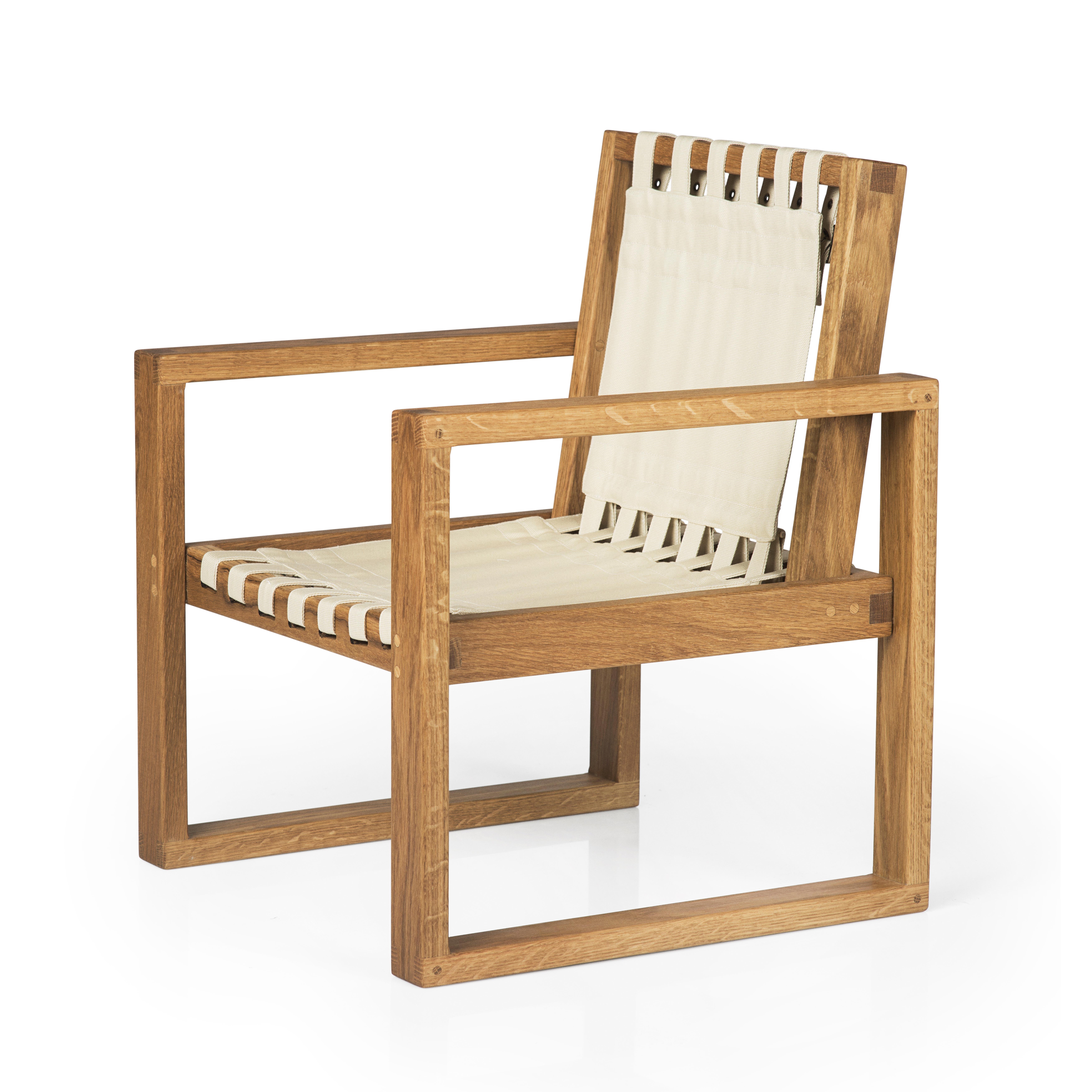 Image of   Collect Furniture stol - Frame Chair - Big - Naturolieret eg/hvid