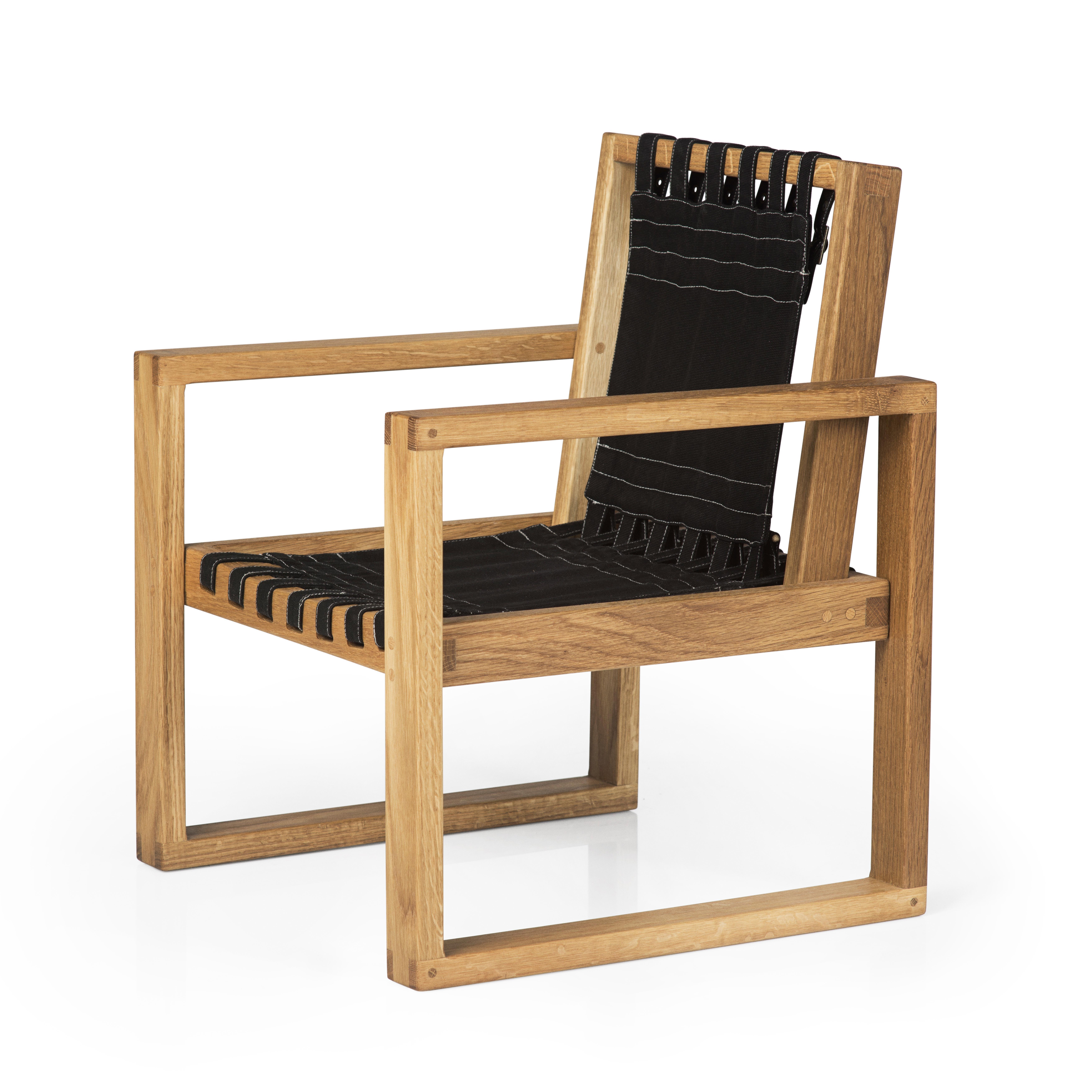 Image of   Collect Furniture stol - Frame Chair - Big - Naturolieret eg/sort