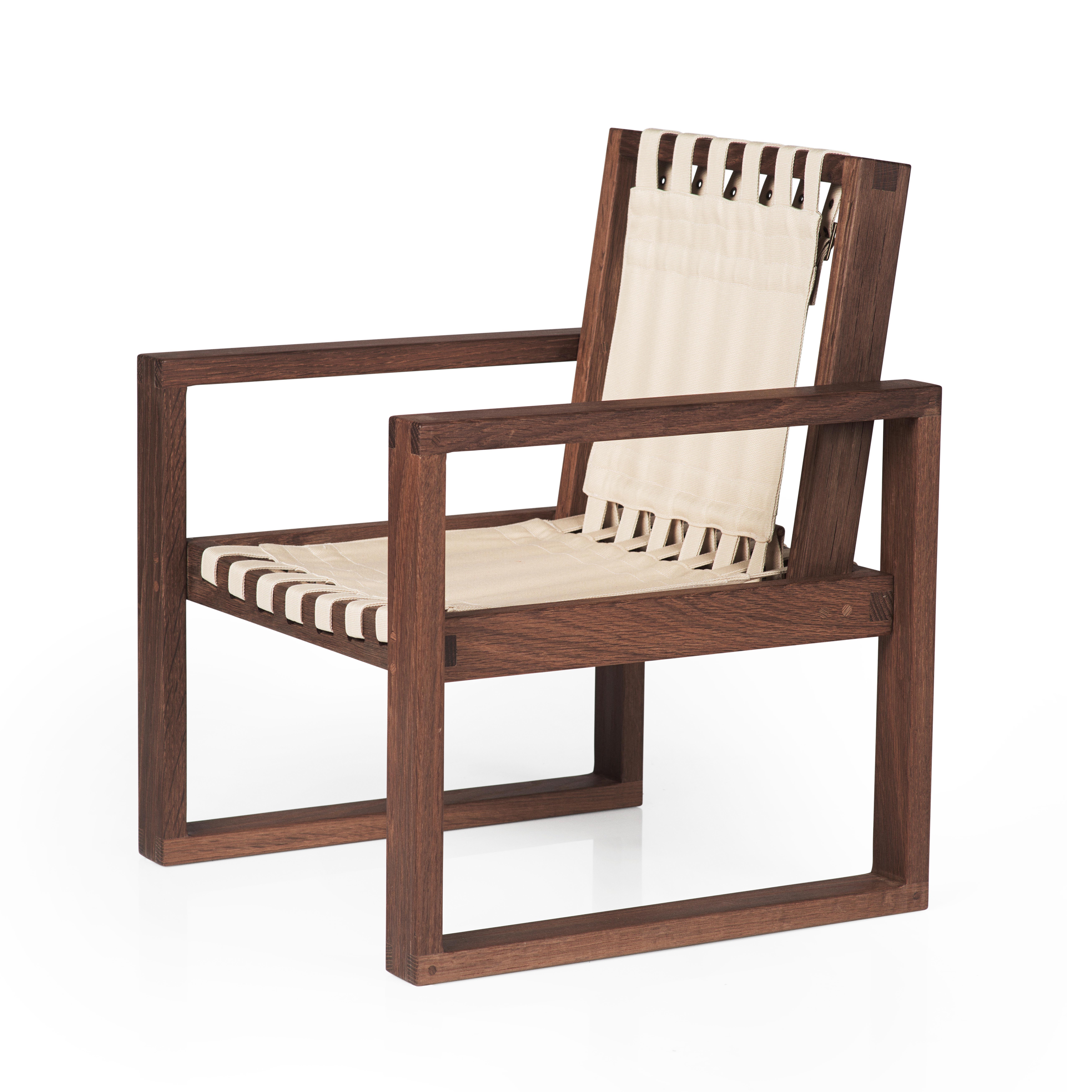 Image of   Collect Furniture stol - Frame Chair - Big - Røget olieret eg/hvid