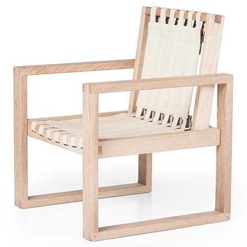 Image of   Collect Furniture stol - Frame Chair - Big - Ubehandlet eg/hvid