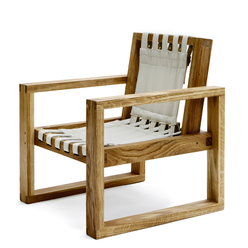 Image of   Collect Furniture stol - Frame Chair - Small - Naturolieret eg/hvid