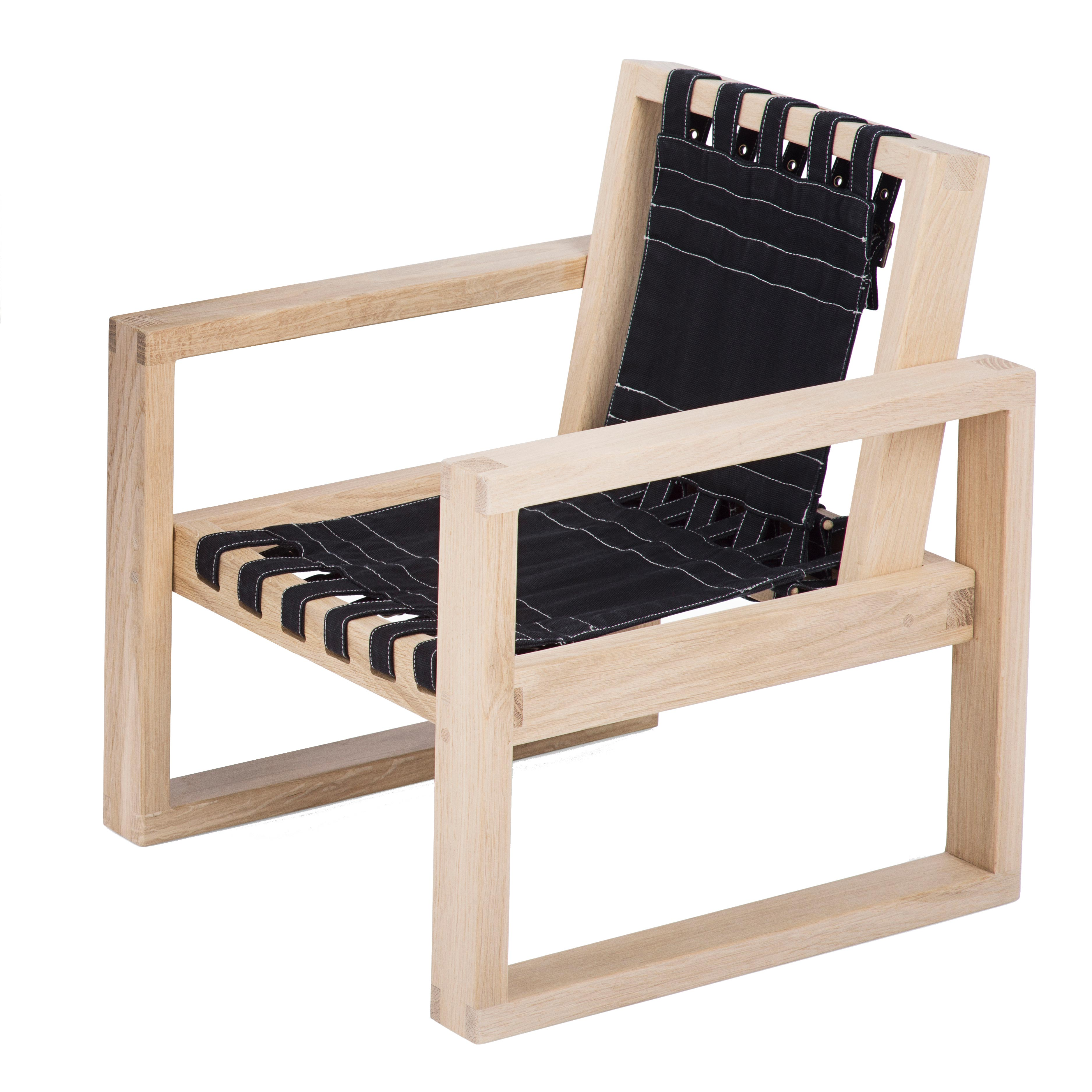 Image of   Collect Furniture stol - Frame Chair - Small - Ubehandlet eg/sort