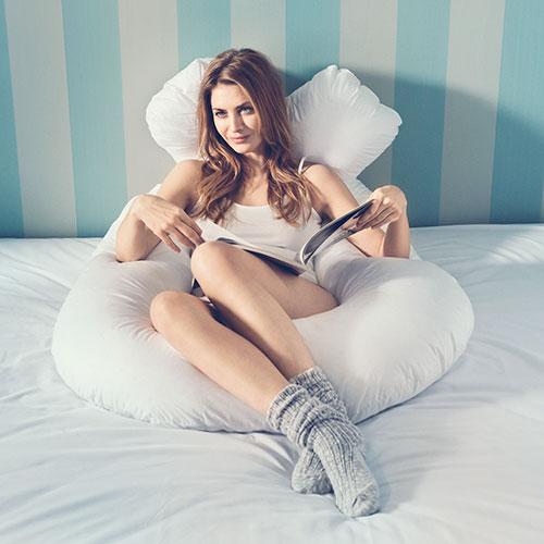 Comfort-U pude - Fossflakes - Hvid