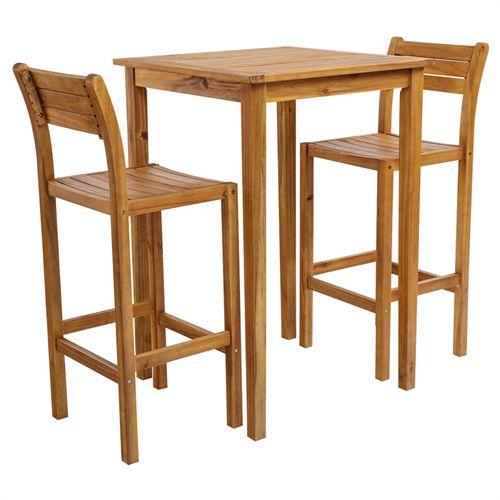 Ultramoderne Coop cafésæt - Liva Bar - Natur Højt bord og 2 barstole i KF-16