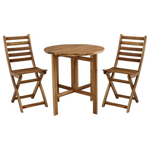 Rørig Coop Cafésæt - Maja - Natur Foldbart bord og 2 klapstole i FSC TV-41