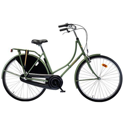 Damecykel 3 gear - Mustang Urban - Grøn Klassisk storbycykel med 10 års stelgaranti - Coop.dk