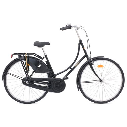 Damecykel 3 gear - Mustang Urban - Sort Klassisk storbycykel med 10 års stelgaranti - Coop.dk
