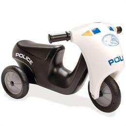 Dantoy politi scooter med gummihjul