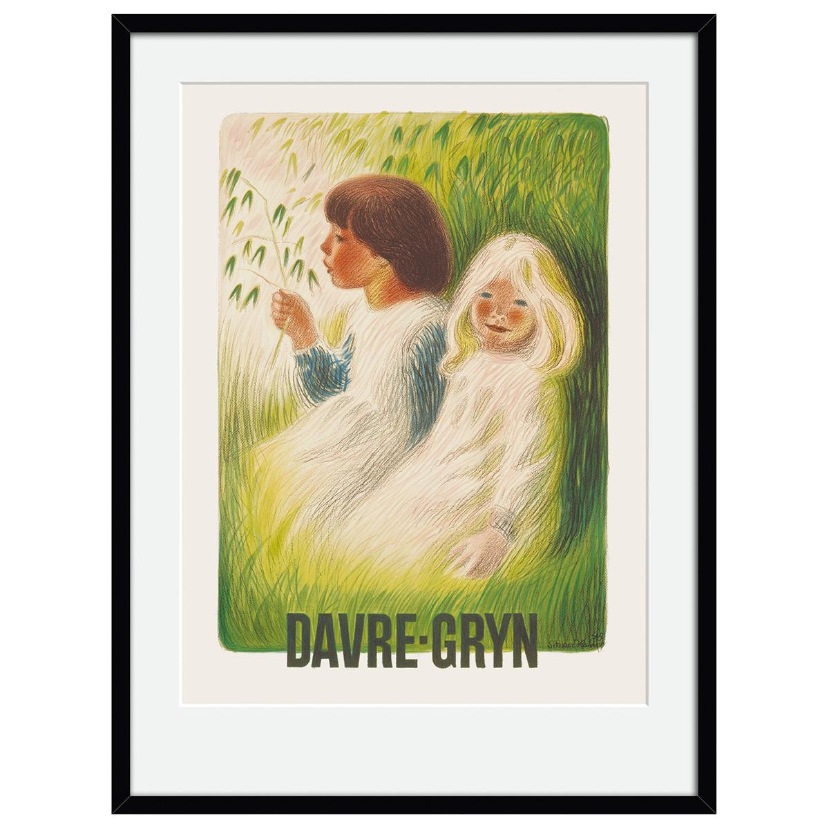 Image of   Davre-gryn plakat i ramme - af Aage Sikker Hansen