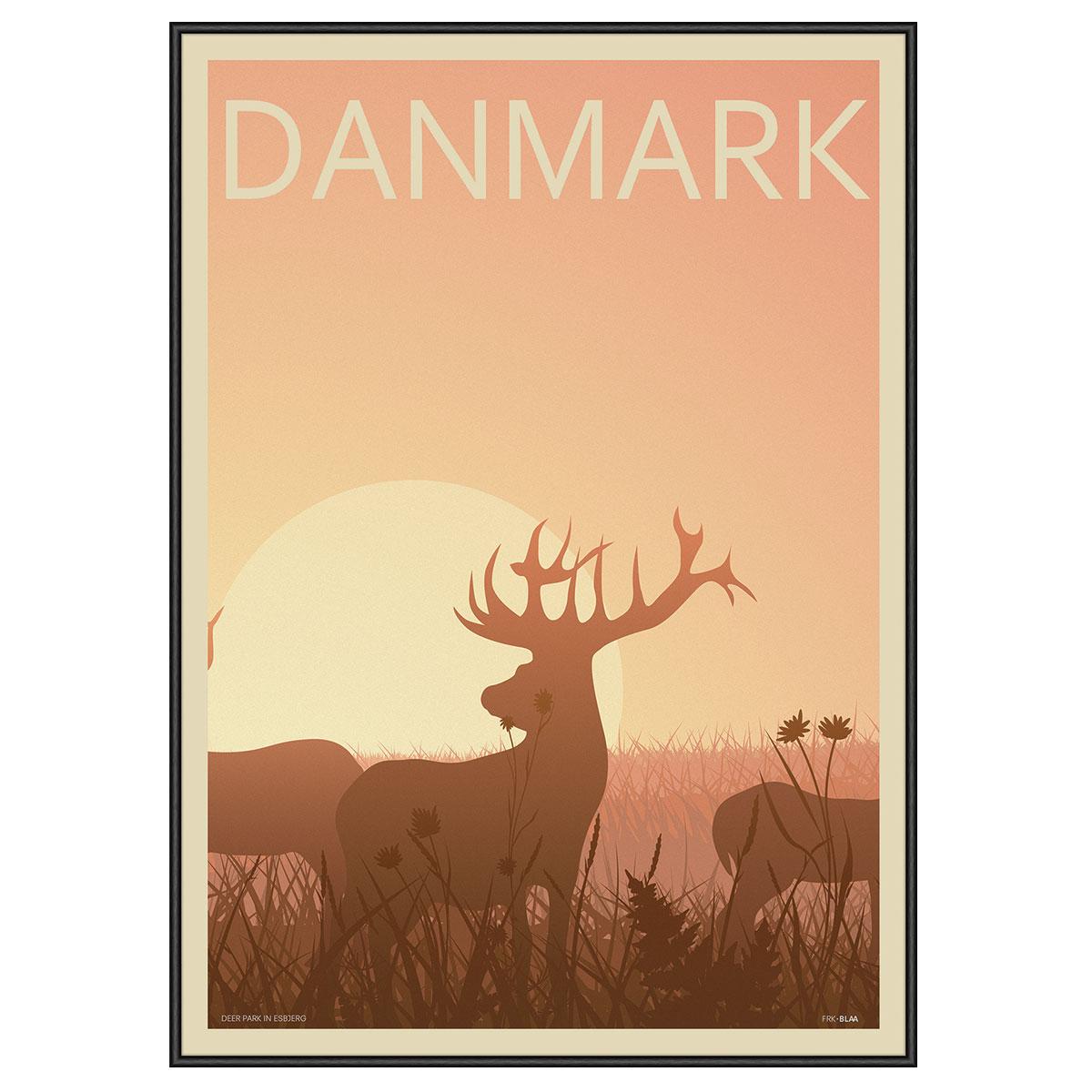 Image of   Deer Park plakat i ramme - Frk. Blaa