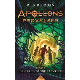 Image of   Den brændende labyrint - Apollons prøvelser 3 - Indbundet