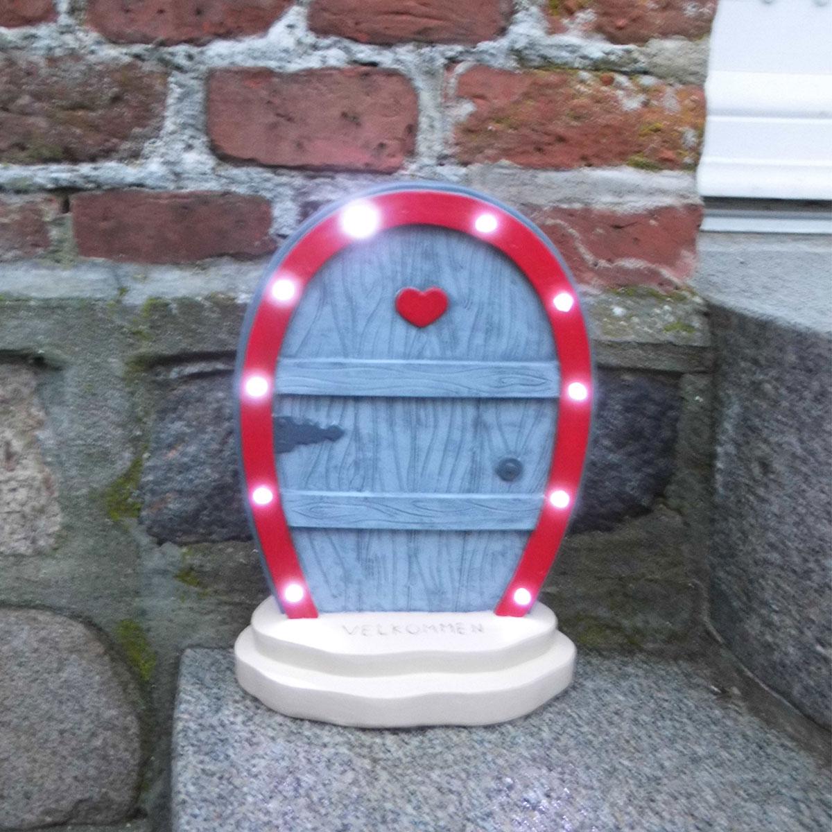 Image of   Det Gamle Apotek nissedør med LED-lys