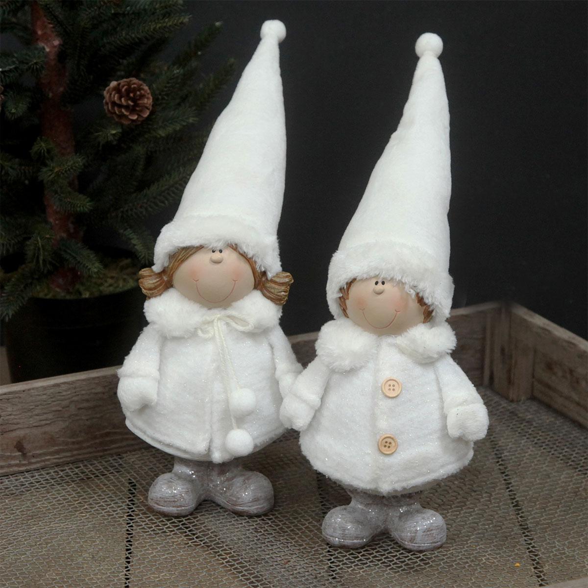 Image of   Det Gamle Apotek nissepar i hvidt