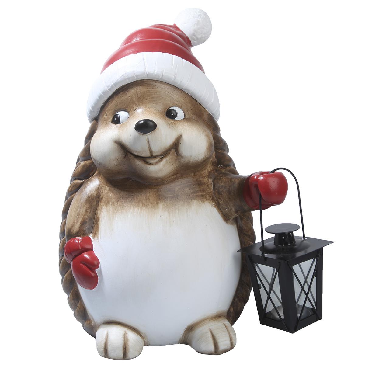Image of   Det Gamle Apotek pindsvin med lanterne