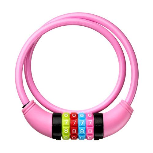 DING spirallås med kode - Pink
