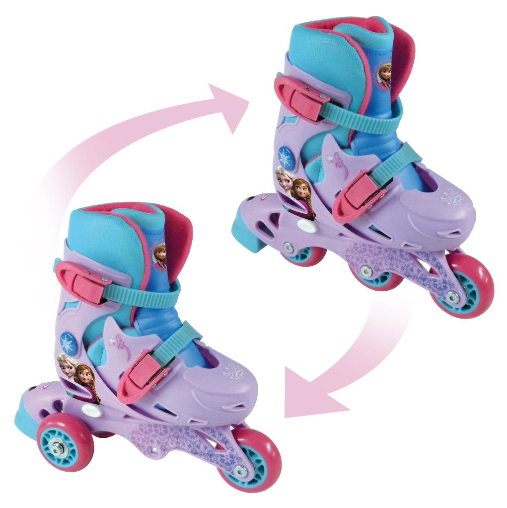 Disney Frozen rulleskøjter med 2-i-1 funktion - Str. 27-30