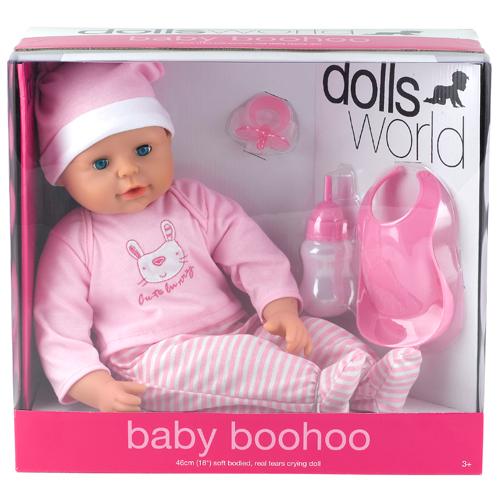 Image of   Dolls World dukke - Baby Boohoo