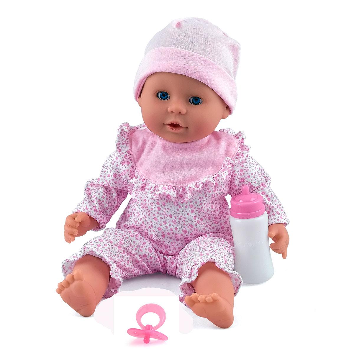 Image of   Dolls World dukke - Little Treasure - Lyserød