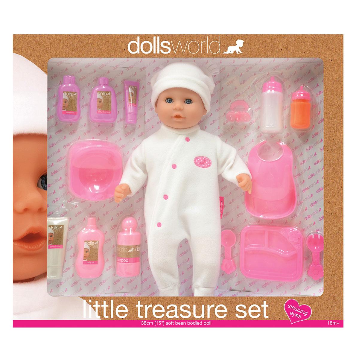 Image of   Dolls World dukke - Little Treasure sæt