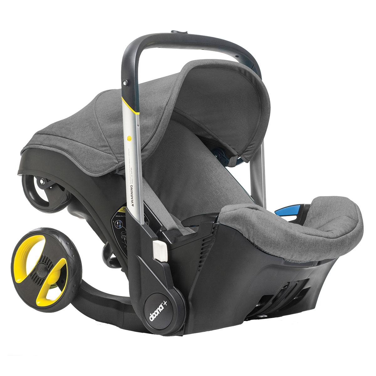Image of   Doona+ autostol og klapvogn i ét - Grå - 0-13 kg
