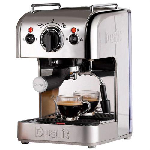 Smuk Dualit espressomaskine - 84450 Kan bruges til både malet kaffe XV-12