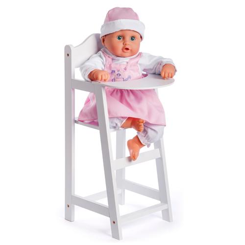 Image of   Dukkehøjstol i træ - Hvid