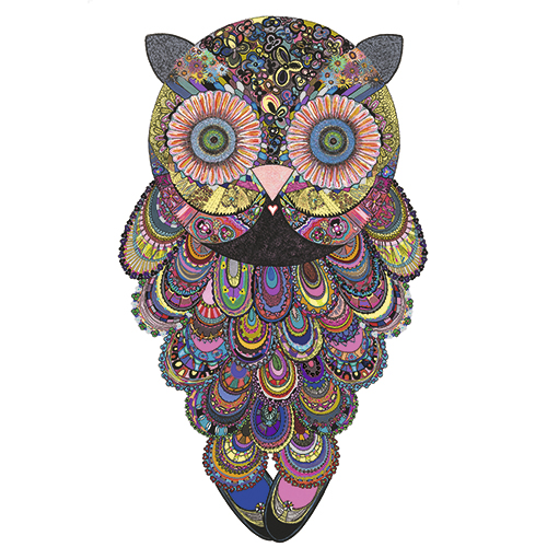 Image of   Ellie Owl plakat - af Anne-Sofie Holm