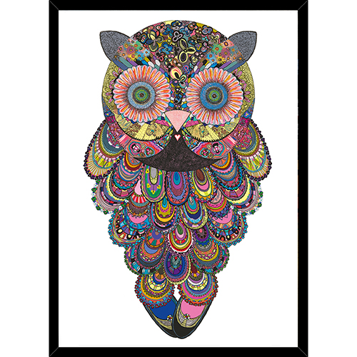 Image of   Ellie Owl plakat i ramme - af Anne-Sofie Holm